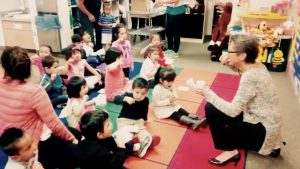 Supervised brushing: pre-schoolers with Dr Marielle Pariseau