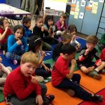 Taking care of baby teeth with brush and xylitol in Kindergarten