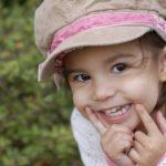 Mischievous smile of a pre-schooler